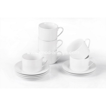 White Porcelain Tea Cup & Saucer 230cc