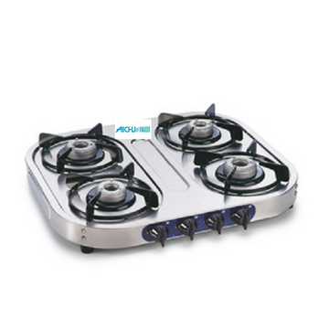 4 Alloy Burners Stainless Steel Gas Stove