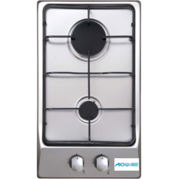 Stainless Steel Fireplace 2 Burner Hobs