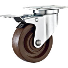 4'' Plate Swivel High Temperature Caster WIth Brake