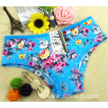 2016 China wholesale bamboo fiber high elastic women white eco-friendly panty little printed flowers underwear 101
