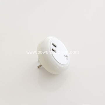 5V 2.4A USB Charger With LED Light Lamp
