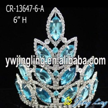 Lake Blue Aqua Rhinestone Pageant Crown