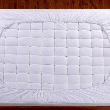 100% cotton down-proof mattress topper with elastic strap