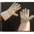 men cow split leather working safety gloves
