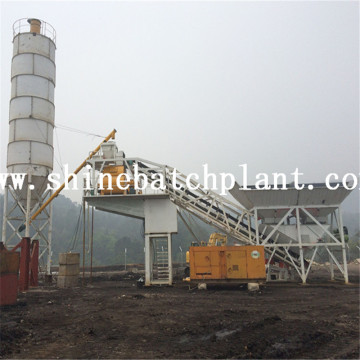 60 High Efficiency Mobile Concrete Mixing Plants