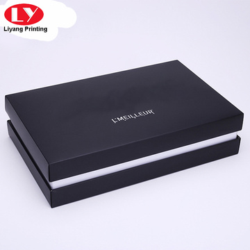 Black leather belt gift box