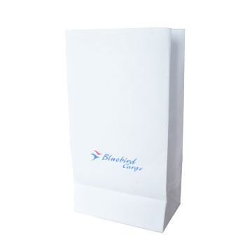 CMYK  airline vomit bag with v-clip