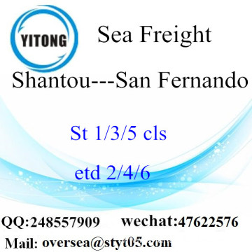 Shantou Port LCL Consolidation To San Fernando
