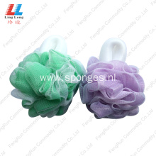 baby flower bath handle loofah sponge wholesale