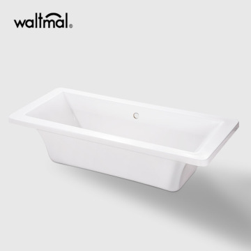 Reversible Drain Freestanding Bath Tub in Biscuit