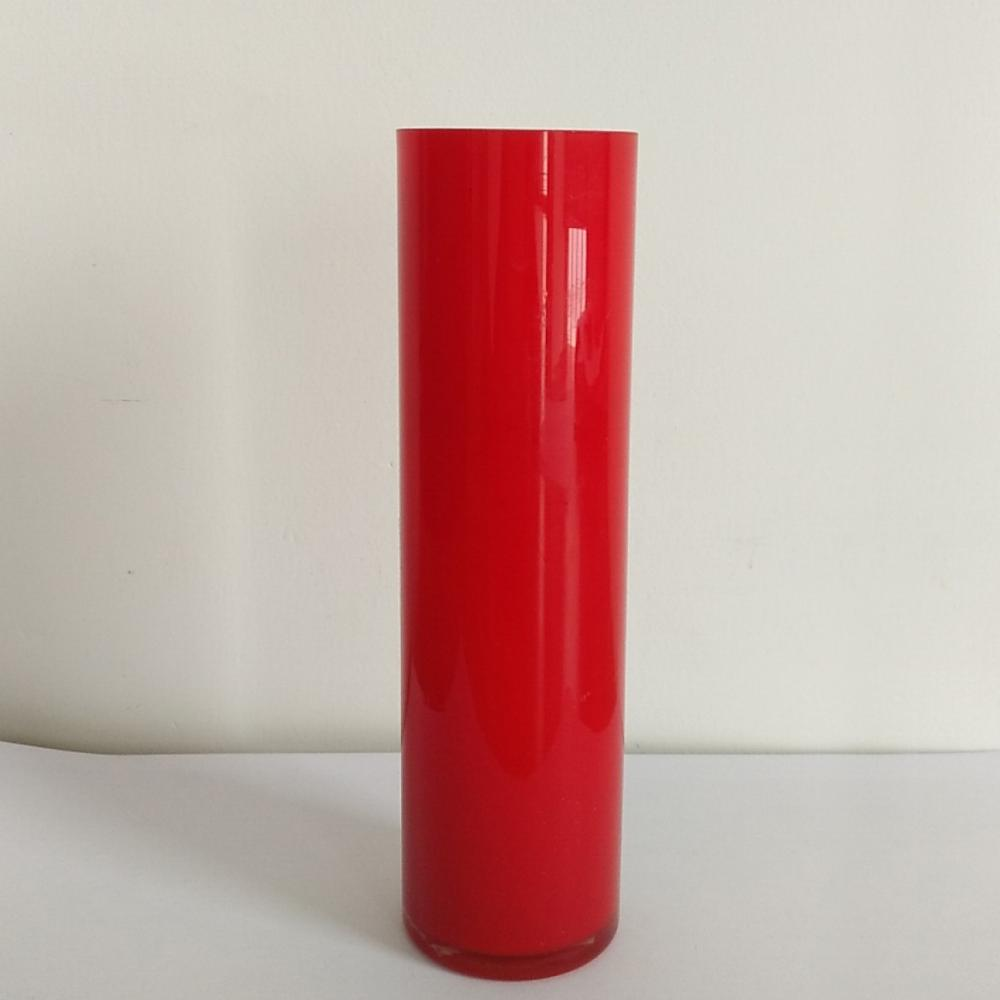 Whole Sale Red Straight Vase For Home Ornament