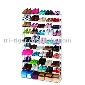 50-Pair Stacking Shoe Cabinet With Max Storage