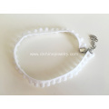 Customized Fabric Choker For Woman White Lace Pom Necklace