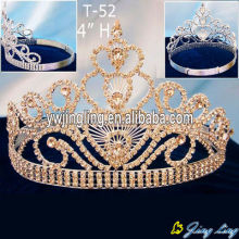 Gold Rhinestone Pageant Crowns For Sale