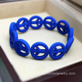 Colorful Stretch Peace Bid Resin Bracelet Bangles Jewelry