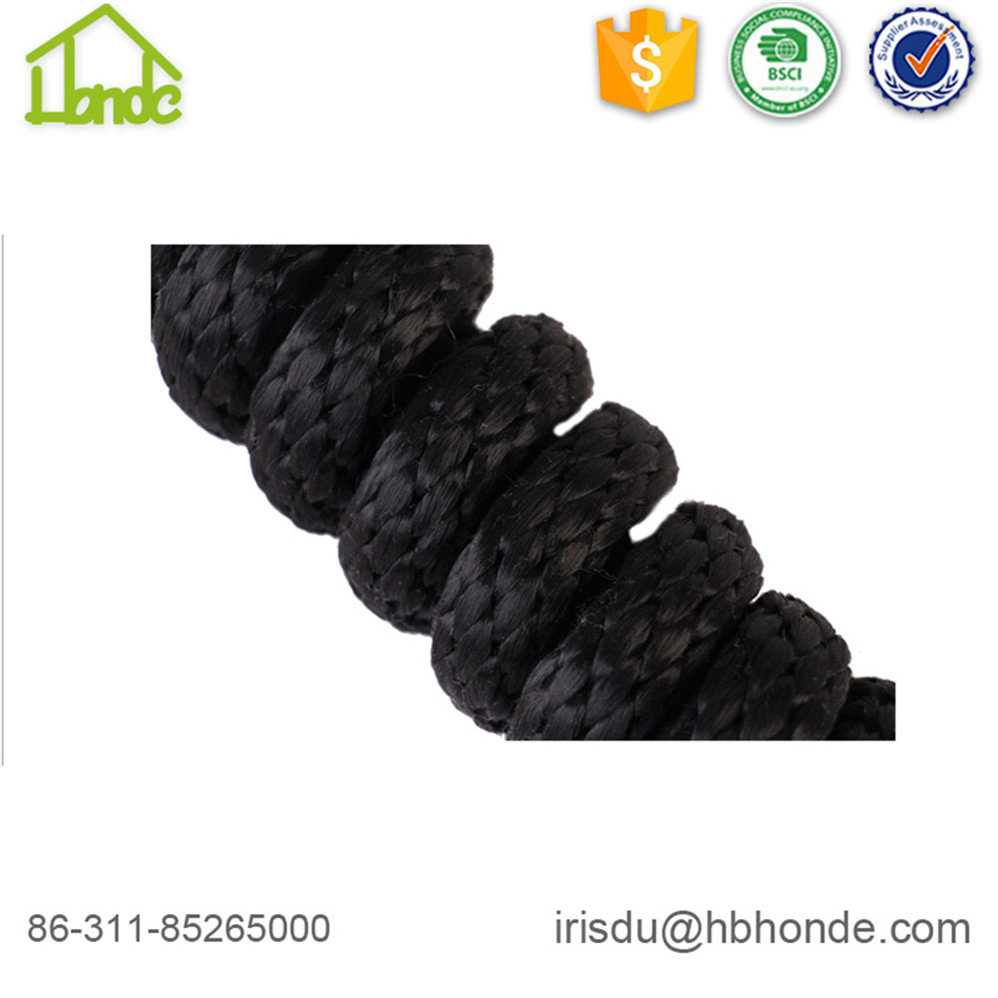 Black Smooth Polyester Lead Rope