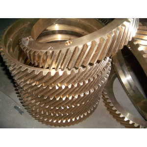 One of Hottest for Turning Parts CNC Turning Machining Copper Bronze Big Copper Gear supply to Latvia Importers