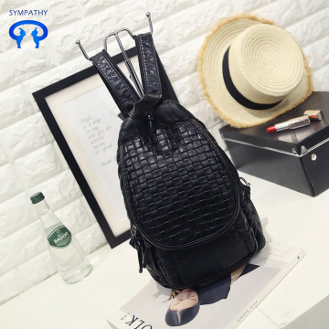 Washed leather one-shoulder backpack retro leisure