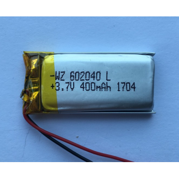 3.7v 450mAh Lipo Battery For Car Camera (LP2X4T6)