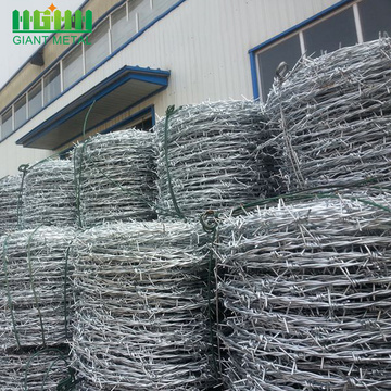 PVC coating and galvanized barbed wire for sale
