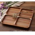 Wooden food serving tray