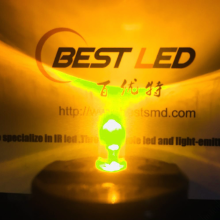 Super Bright 5mm Yellow LED 580nm Clear Lens