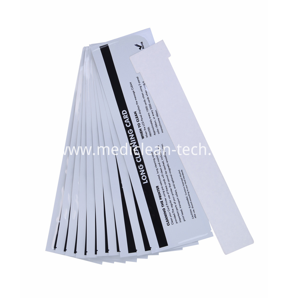 Evolis Long T Cleaning Cards 326mm for Zenius Primacy Printer