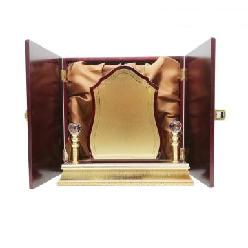 Artistic wooden engraving  honor trophy