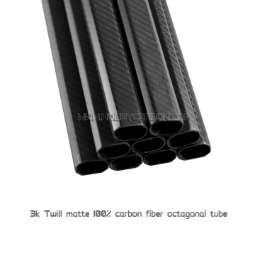 Tube fiber carbon 20x30x500mm Octagon airson Multicopter