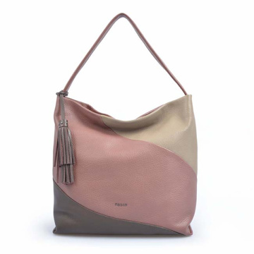 Multifunctional Everyday Bag Zippered Stitching Hobo Bag