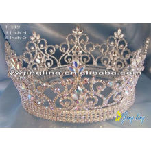 AB Rhinestone Full Round Pageant Tiaras Crowns