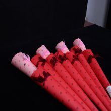 Paper rose cone gift tube of love red