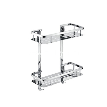 Bathroom Double Layer Stainless Steel Storage Rack
