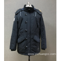 men`s navy print outwear