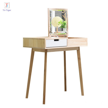 Northern europe Dressing Chair makeup dresser with mirror