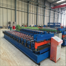 OEM China for Steel Trapezoid Roof Sheet Forming Machine Metal galvanized IBR trapezoid roll forming machine supply to United States Minor Outlying Islands Manufacturers