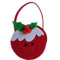 Christmas candy gift bag with pudding shape