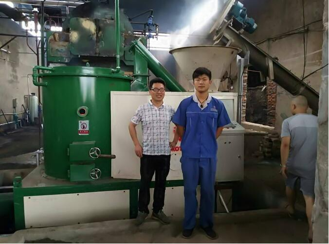 customer biomass pellet burner