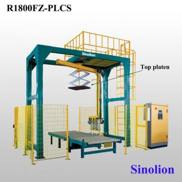 Pre-stretch film pallet rotary arm wrapper