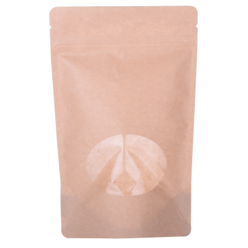 Stand Up Pouch Paper Bag with Rectangle Window