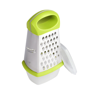 4 Sides Stainless Steel Grater with Container