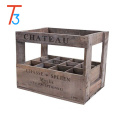 vintage style wooden whisky wine crate box - 12 bottle holder