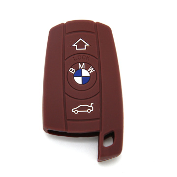 Embossed silicon logo car key cover for BMW