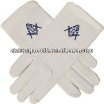 Cotton Uniform Maritial Glove/Masonice Glove/Embroider Glove