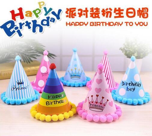 China Kids Birthday Hat Happy Cap Paper For