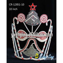 Factory wholesale price for Candy Pageant Crowns Holiday Crown Christmas Bell export to Swaziland Factory