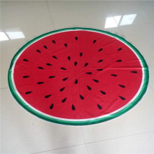 watermelon print customizable circle beach towels
