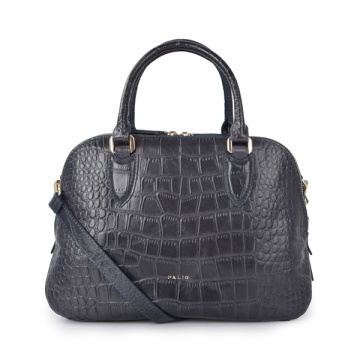 Small Robinson Croc Embossed Leather Bucket Tote Bags