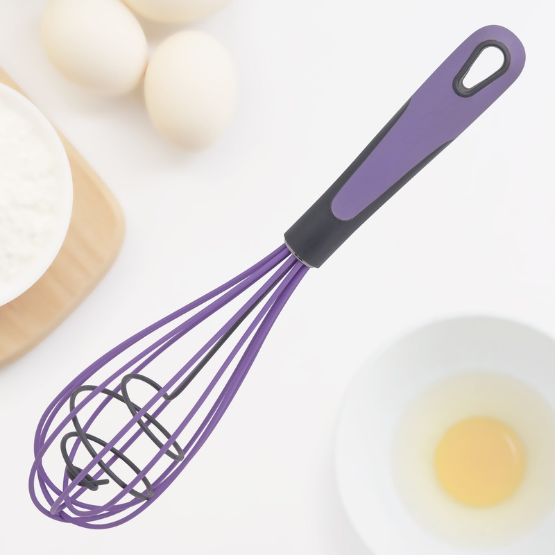 Manual Silicone And Stainless Steel Egg Whisk Beater